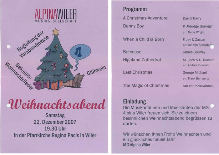 Weihnachtskonzert 2007
