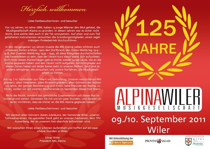 125 Jahre Alpina Wiler