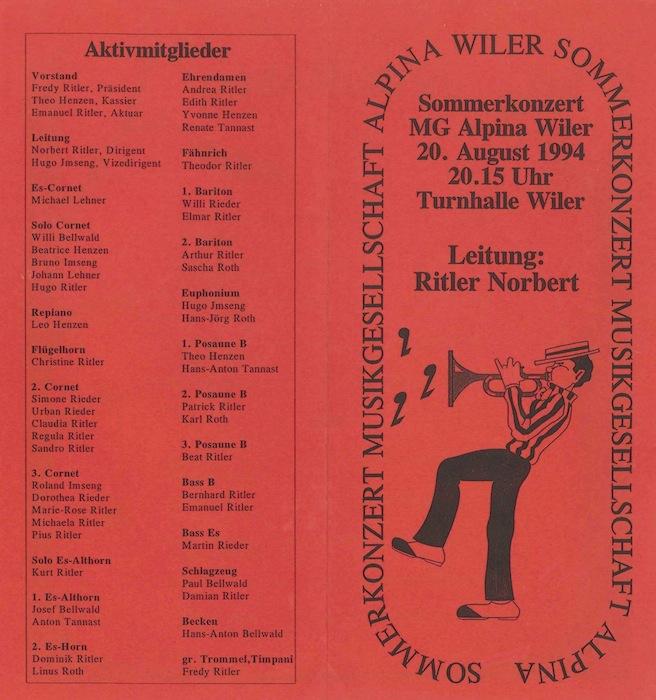 Jahreskonzert 1994