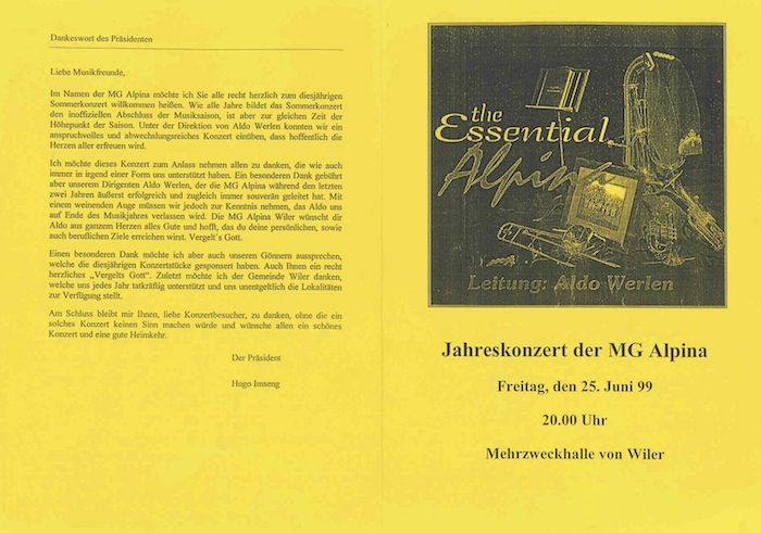 Jahreskonzert 1999