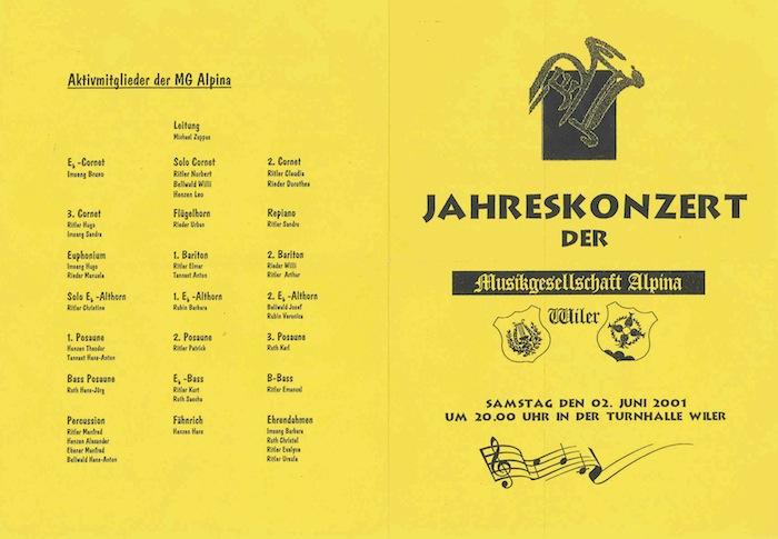 Jahreskonzert 2001