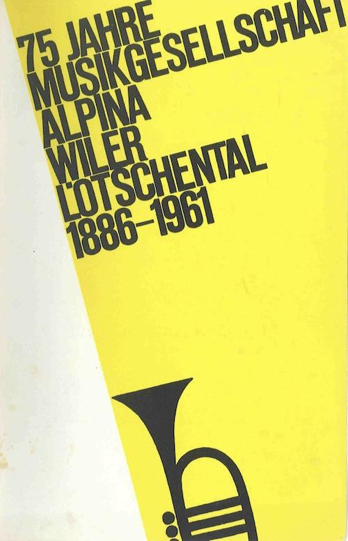 75 Jahre Alpina Wiler / Neuuniformierung 1961