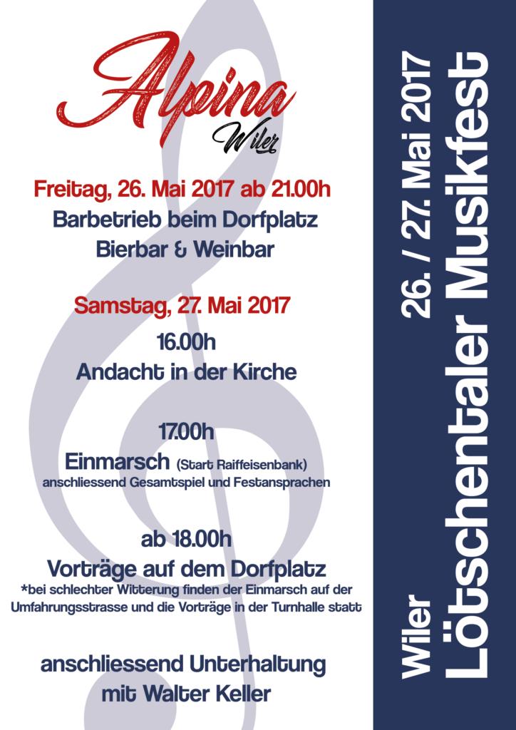 58. Lötschentaler Musikfest 2017