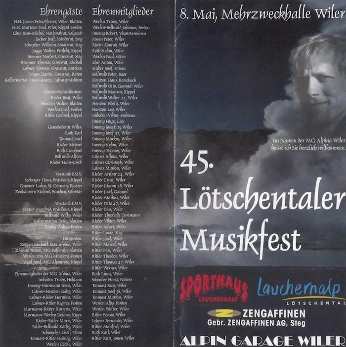45. Lötschentaler Musikfest 2004