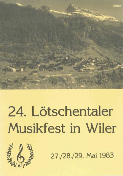 24. Lötschentaler Musikfest 1983