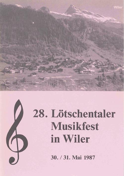 28. Lötschentaler Musikfest 1987