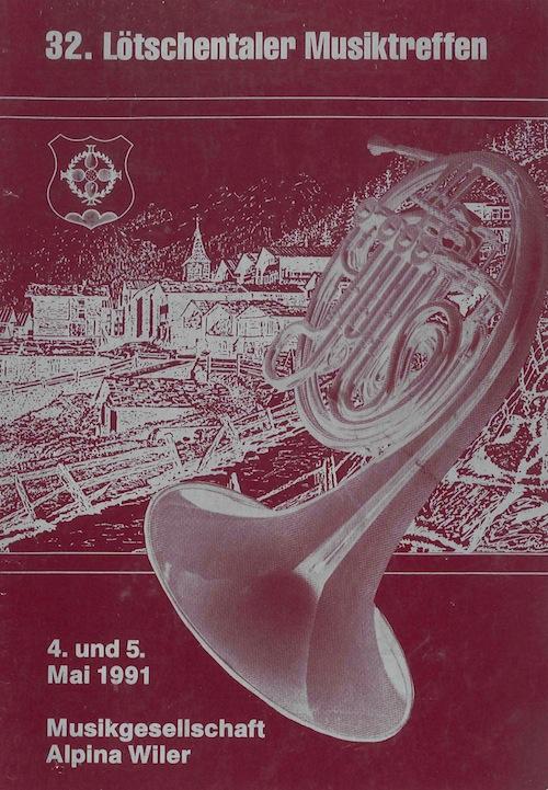 32. Lötschentaler Musikfest 1991
