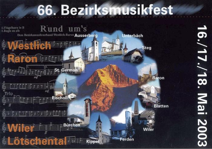 66. Bezirksmusikfest 2003